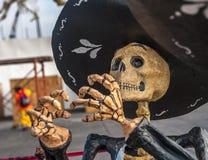 死的墨西哥流浪乐队, Dia de los muertos,死者的天在墨西哥 图库摄影