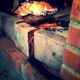 轻的壁炉砖 免版税库存图片