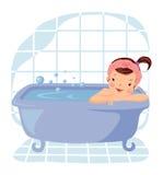 洗浴的女孩 库存照片