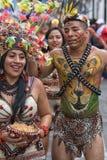 从他的女性和男性舞蹈家亚马逊地区 库存照片