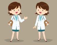 介绍的女性医生 免版税库存图片