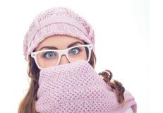 冻结的妇女年轻人 免版税库存图片