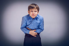 10年的少年男孩欧洲人出现 免版税图库摄影