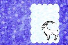 年的山羊标志 免版税库存照片