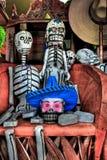 死的庆祝骨骼形象的天 免版税库存图片