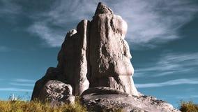 以头的形式岩石 免版税库存照片