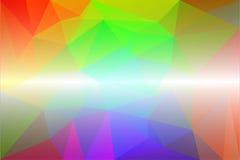 轻的彩虹低多背景 免版税库存图片