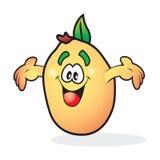 傻的微笑的桃子 免版税库存照片