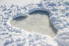 冻结的心脏 免版税库存图片