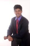 他的成功愉快的印地安商人  库存照片