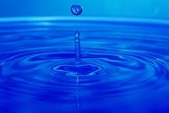 水的接近的下落 免版税库存照片
