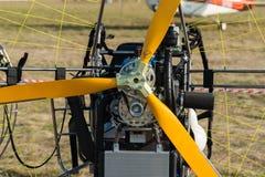 轻的推进器航空器细节  库存照片