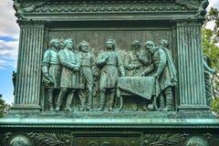 的摇石将军谈论战略南北战争纪念华盛顿特区 库存图片
