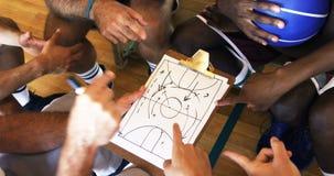 的教练协助剪贴板剪贴板的向上观点球员 影视素材