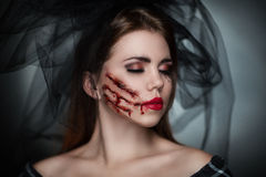 死的新娘恐怖 库存图片