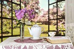 读的春天圣经 库存照片