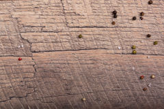 轻的木头特写镜头用不同的调味料,家具的, arcitecture材料的作为轻的木背景 免版税图库摄影
