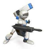 攻击的机器人 库存照片