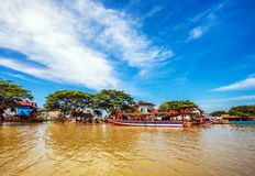 水的村庄 库存照片