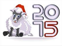 年的标志-绵羊 库存图片