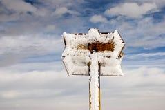 冻结的标志 免版税库存照片