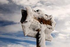 冻结的标志 库存图片
