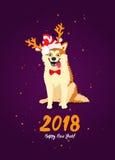 年的标志2018年 库存照片