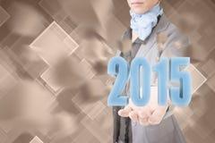 2015年的概念 库存照片