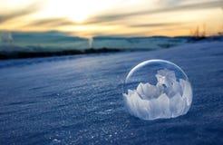 冻结的泡影 免版税库存照片