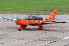 轻的涡轮螺旋桨发动机航空器 免版税库存照片