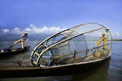 水的渔夫 库存图片