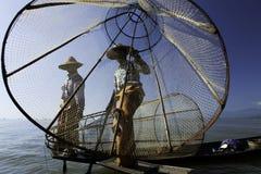 水的渔夫 免版税库存图片