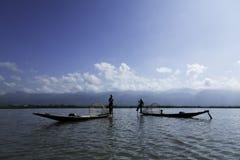 水的渔夫 免版税图库摄影