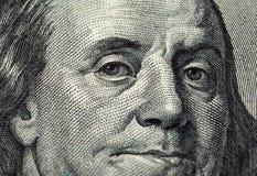 的片段一百元钞票 免版税图库摄影