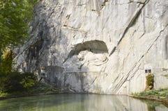 死的狮子纪念碑在卢赛恩,瑞士 免版税库存照片