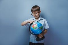 10年的男孩欧洲出现与 库存照片