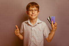 10年的男孩欧洲出现与 免版税库存照片