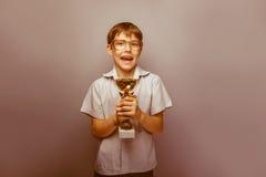 10年的男孩欧洲出现与 免版税库存图片