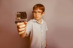 10年的男孩欧洲出现与 库存图片