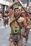 从他的男性舞蹈家亚马逊地区 库存照片