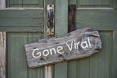 去的病毒标志。 免版税库存照片