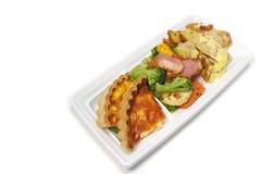 #2的白色午餐板材分类关闭 库存图片