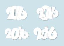 轻的白色样式2016新年组合概念 免版税库存图片