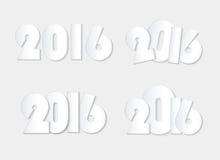 轻的白色样式2016新年组合概念 库存照片