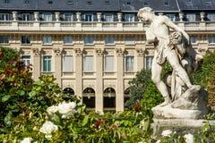 巴黎的皇家宫殿庭院  免版税库存图片