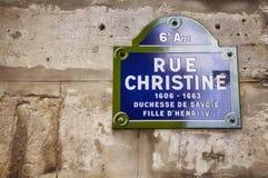 的看法路牌巴黎 免版税库存图片