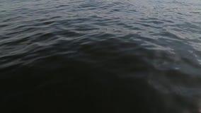 水的看法从移动的小船的 影视素材