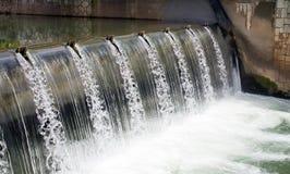 水的秋天, 免版税库存照片