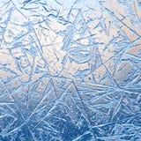 冻结的窗口纹理 免版税库存照片