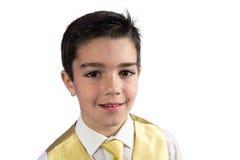 他的第一个圣餐的年轻男孩 库存照片